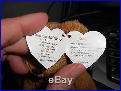 Very Rare CURLY TY BEANIE BABY with multiple errors in excellent condition