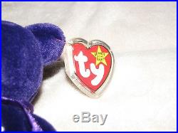Very Rare MWMT 1st Edition Ty Princess Diana Beanie Baby No Number No space