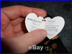 Very Rare The End TY BEANIE BABY with errors in excellent condition