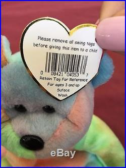 b5fed034aba Very Rare Ty Beanie Baby-PEACE BEAR- Original Collectible with Tag ERRORS.  Read